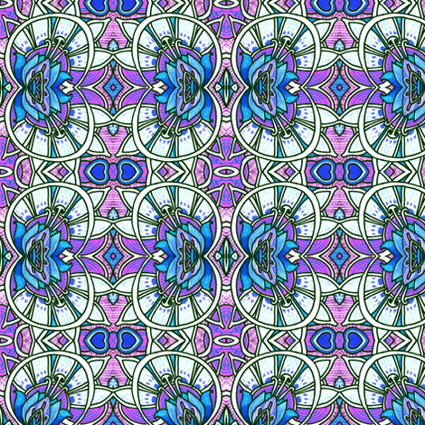 Victorian Windows (lavender/blue) fabric by edsel2084 on Spoonflower - custom fabric