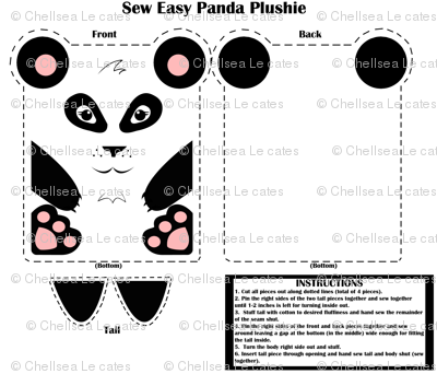 Sew Easy Panda Plushie