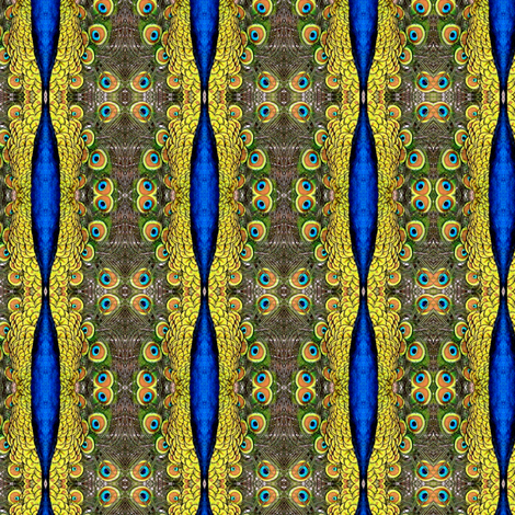 Peacock Kaleidoscope #26 fabric by artist4god on Spoonflower - custom fabric