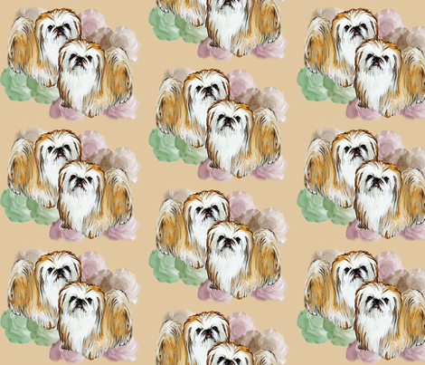 pekingese fabric fabric by dogdaze_ on Spoonflower - custom fabric