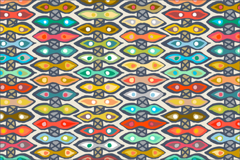 Avani ikat tea towel fabric by scrummy on Spoonflower - custom fabric