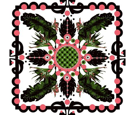A hawaiian queen's quilt  fabric by paragonstudios on Spoonflower - custom fabric