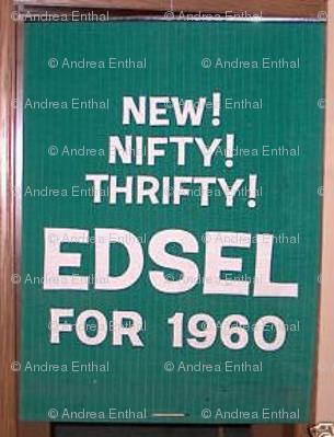 1960 Edsel advertising banner