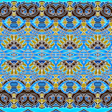 Little Chocolate Blue Feather fabric by edsel2084 on Spoonflower - custom fabric