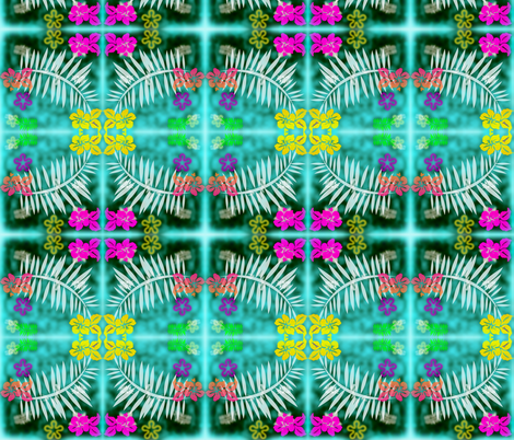 Summer island fabric by ambies on Spoonflower - custom fabric