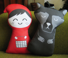 DIY little red riding hood plush pattern set - click to see sewn