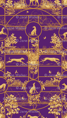 Autumn Greyhounds Purple ©2011 by Jane Walker