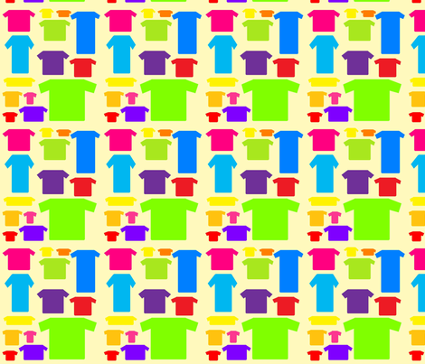 t-shirts( yellow) fabric by mollymoo on Spoonflower - custom fabric