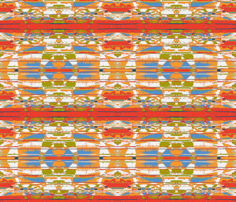 Mexican Serape Mash-up fabric by susaninparis on Spoonflower - custom fabric