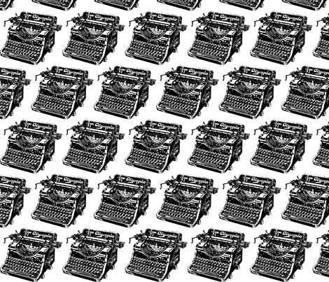 typewriter fabric by tailsthegirl on Spoonflower - custom fabric