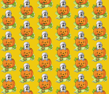 Halloween Labradoodle puppy fabric by dogdaze_ on Spoonflower - custom fabric
