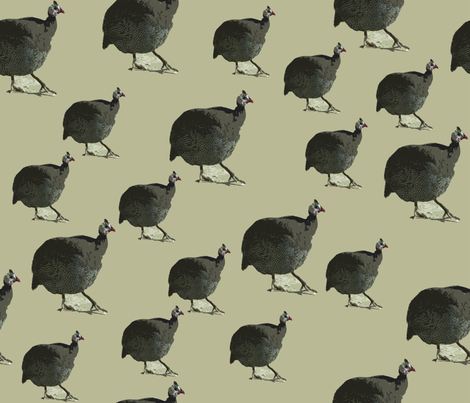 Beige Guinea Hen fabric by corinnevail on Spoonflower - custom fabric