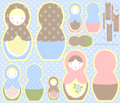 Nesting Doll fabric by eoskoch on Spoonflower - custom fabric