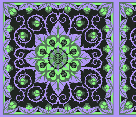 Deadly Nightshade- Black light fabric by ceanirminger on Spoonflower - custom fabric