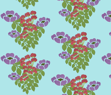 joyful_flowers fabric by snork on Spoonflower - custom fabric