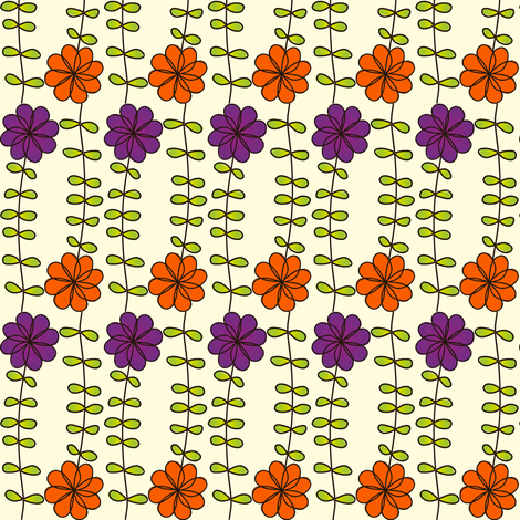 Halloween Flowers fabric by wendyg on Spoonflower - custom fabric