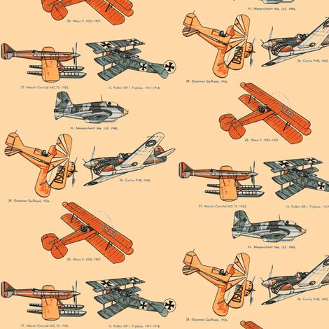 Vintage Airplanes fabric by mbsmith on Spoonflower - custom fabric