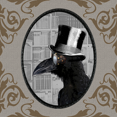 Crow Daddy v02 fabric by novelatelier on Spoonflower - custom fabric