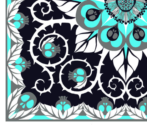 Deadly-Nightshade-icy fabric by ceanirminger on Spoonflower - custom fabric
