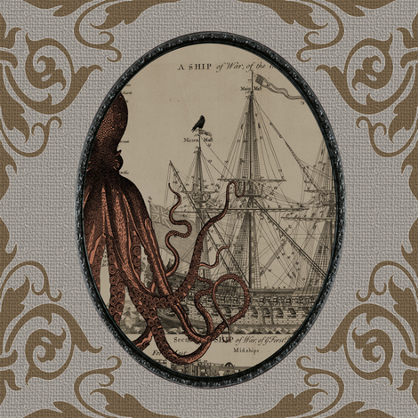Kraken v02 fabric by novelatelier on Spoonflower - custom fabric