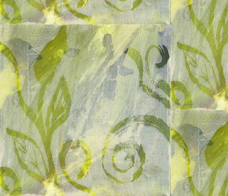 leaf swirls fabric by robinmariapedrero on Spoonflower - custom fabric