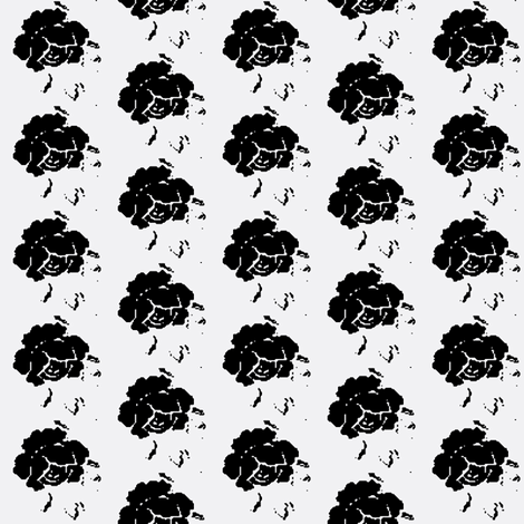 Rose white black  fabric by miss_blümchen on Spoonflower - custom fabric