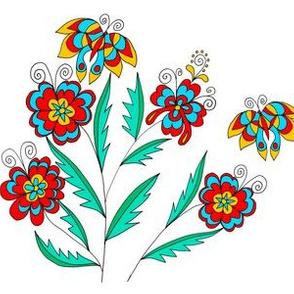 groovy floral design