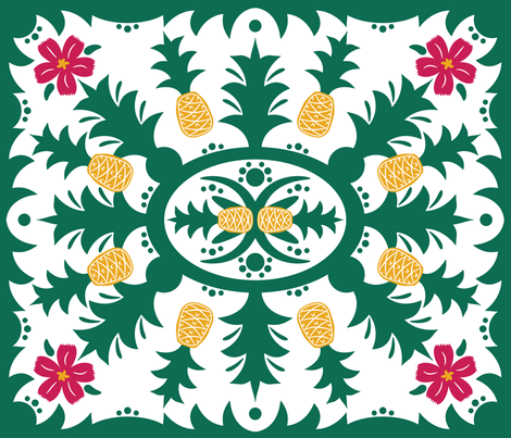 Pineapple Paradise fabric by robyriker on Spoonflower - custom fabric