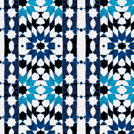 oriental mosaic batik blue-xxl-ch fabric by miss_blümchen on Spoonflower - custom fabric