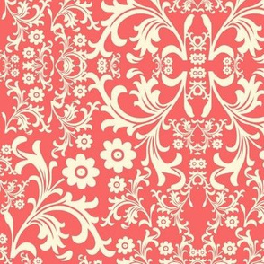 Antique Coral Floral Medley