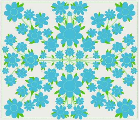 hawaiian quilt fabric by cleverviolet on Spoonflower - custom fabric