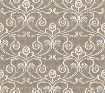 Petite Faded French Rose - Brown