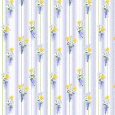 ©2011 Bouquet in Lemon and Blue fabric by glimmericks on Spoonflower - custom fabric
