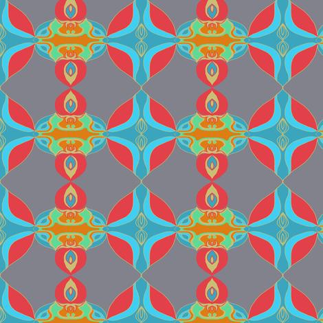Ornamental Deco fabric by paula_ogier_artworks on Spoonflower - custom fabric