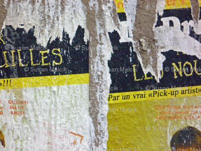 Torn Poster. Paris