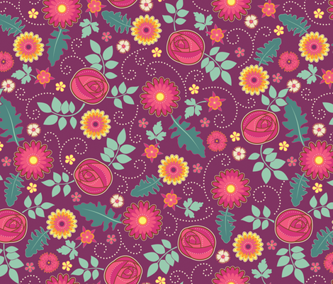 June Birthday fabric by jennartdesigns on Spoonflower - custom fabric