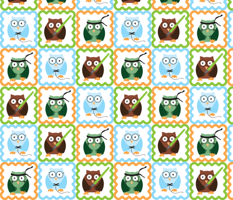 Geeky Owls fabric by forgotten_fortune on Spoonflower - custom fabric