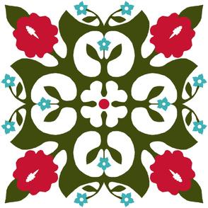 Hawaiian quilt, hibiscus