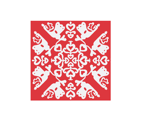 Peacocks in love - Hawaiin quilt fabric by miss_blümchen on Spoonflower - custom fabric