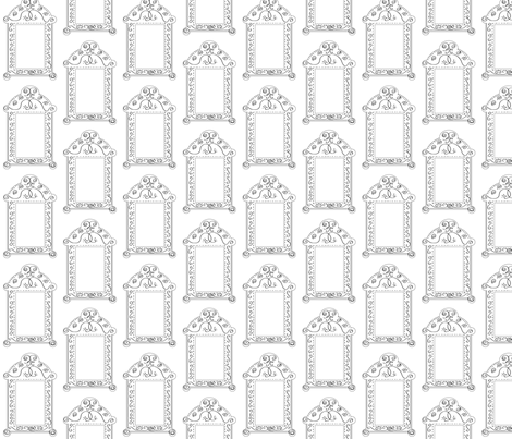 Frames - Black White fabric by owlandchickadee on Spoonflower - custom fabric