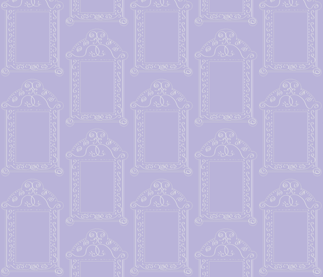 Frames - Lavender and White fabric by owlandchickadee on Spoonflower - custom fabric