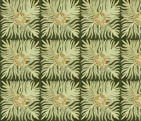 Seaweed flower fabric by jellybeanquilter on Spoonflower - custom fabric