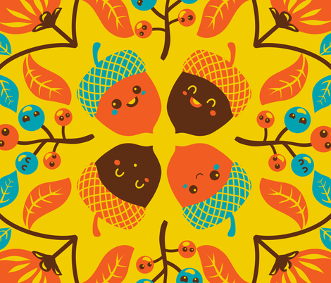 Hawaiian quilt with autumn spirit fabric by irrimiri on Spoonflower - custom fabric