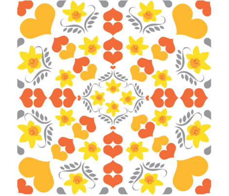 Daffodil Dreaming fabric by nerida_jeannie on Spoonflower - custom fabric