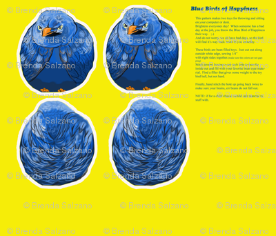 Blue Bird of Happiness Bean Bag Toy
