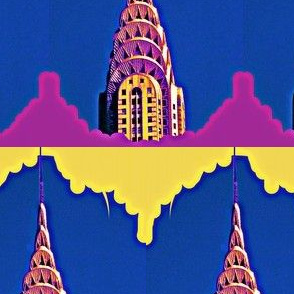 Glowing Chrysler Building