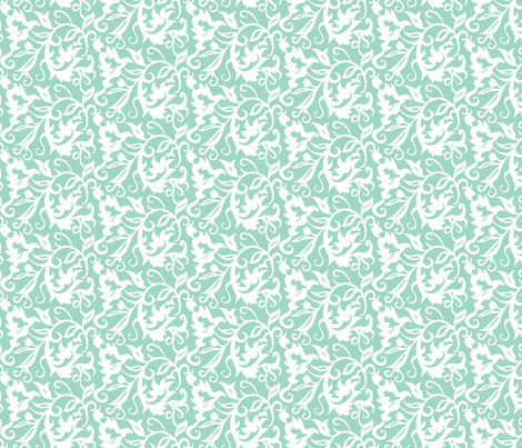 Flourish Paisley S-FF-105C2 fabric by modernprintcraft on Spoonflower - custom fabric