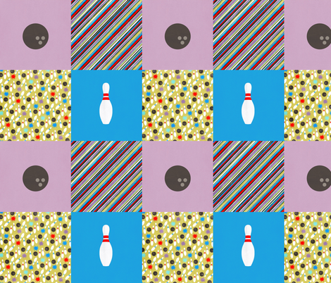 bowling04 fabric by jnifr on Spoonflower - custom fabric
