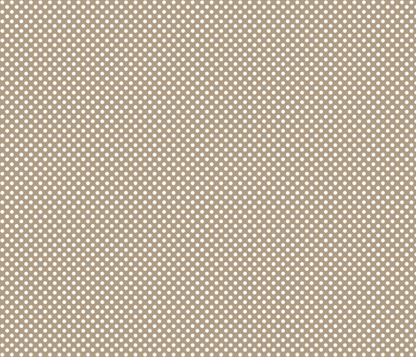 brown_white_polka fabric by cherryandcinnamon on Spoonflower - custom fabric