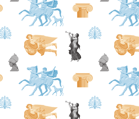 Greek Antiquities 1a fabric by muhlenkott on Spoonflower - custom fabric
